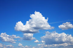 Sky with fluffy cumulus clouds hdr Stock Photo