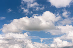 Sky. Fluffy white clouds with blue sky Royalty Free Stock Images
