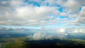 Sky Fly Between Clouds 4K