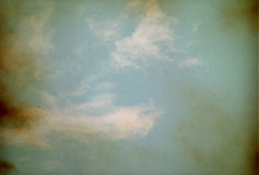 Sky, fog, and clouds on a textured, Stock Image