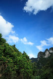 Sky, Forest, Mountain. In Khao-Sok National Park Thailand Stock Images