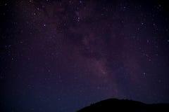 Sky för Starry natt Fotografering för Bildbyråer