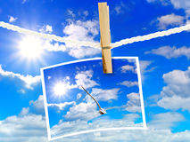 Sky and frame Stock Photography