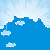 Sky frame with clouds Royalty Free Stock Photos