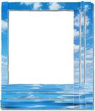 Sky frame, paper-stripes Royalty Free Stock Photography