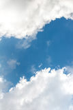 Sky. Free space blue sky with bright clouds Stock Image