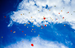 Sky full of Baloons #2 Royalty Free Stock Images