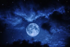 Sky with full moon Royalty Free Stock Images