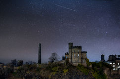 Sky full of starts over Martyr`s Monument and Governors House Stock Images