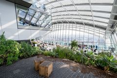 Sky Garden in London City Stock Images