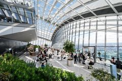 Sky Garden in London City Stock Photo