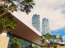Sky Garden. At shangri la plaza. 6th floor royalty free stock photos