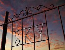 Sky gates. Fence of the SKY shopping center, UB, Mongolia Royalty Free Stock Image