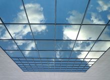 Sky in the glass. Squares Stock Photos