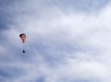 Sky gliding in cloudy sky Stock Photography