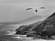 Sky gliding stanwell tops BW Royalty Free Stock Photos