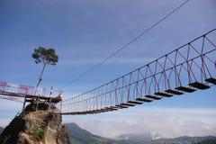 Sky. Glory bridge on the top , Dieng, Indonesia Stock Photo