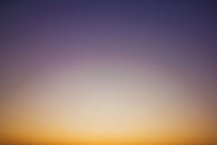 Sky gradient from blue to orange Royalty Free Stock Images