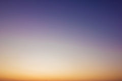 Sky gradient from blue Stock Image