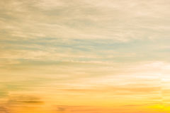 Sky gradient from blue to orange Royalty Free Stock Photos