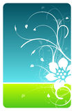 Sky and grass floral design card. Background Stock Image