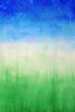 Sky and grass ,watercolor abstract background Royalty Free Stock Photography