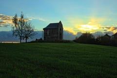 Sky, Grassland, Field, Grass royalty free stock photography