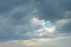 Sky with gray clouds Stock Images