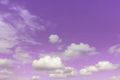 Sky. Gray and white clouds in purple shadow sky Royalty Free Stock Photo