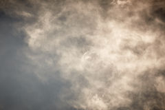Sky with grey clouds Royalty Free Stock Images