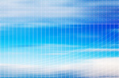Sky grid Stock Images