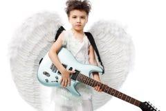 Sky guitarist Royalty Free Stock Photo