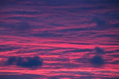 The sky has turned to crimson. stock images