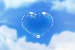 Sky heart Stock Photo