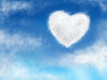 Sky and Heart Cloud Stock Photography