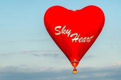 Sky heart Stock Image
