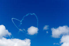 Sky heart. Hokkaido cloud plane Royalty Free Stock Photos