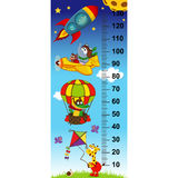 Sky height measure. (in original proportions 1:4) - vector illustration, eps Royalty Free Stock Image