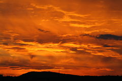 Sky in the hell Stock Image