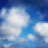 Sky hexagon background Stock Photography