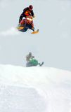 Sky high. Jumping - taken at sudbury snowcross Stock Images