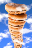 Sky high burgers Royalty Free Stock Photos