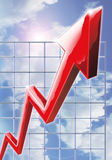 Sky High Profits. Computer generated image illustrating extreme business growth stock illustration