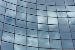 Sky high technology. Glass wall Royalty Free Stock Photo