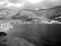 Sky, Highland, Nature, Black And White stock photo