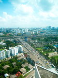 Sky hight from 24 floor central of thailand Royalty Free Stock Photo
