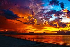 Sky, Horizon, Afterglow, Sunset royalty free stock image