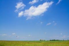 Sky horizon field Stock Images