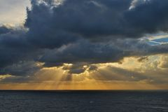Sky, Horizon, Sea, Cloud royalty free stock image