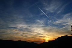 The sky in the hour of sunset Royalty Free Stock Image